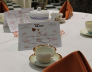 Menu from Style to Waist tea and apron fashion show